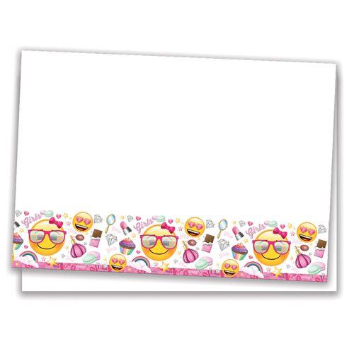 Emoji Kız Partisi Masa Örtüsü (120x180 cm), fiyatı
