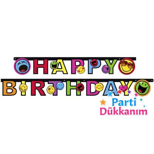 Emoji Happy Birthday Yazısı (180 cm.), fiyatı
