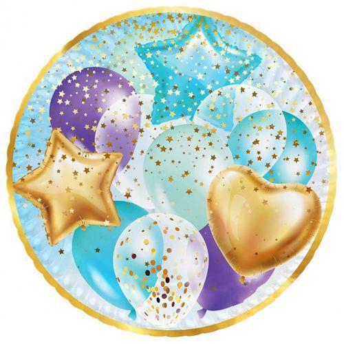 Mavi Gold Uçan Balonlar Tabak (8 adet), fiyatı