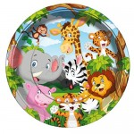 Safari Mutlu Hayvanlar Tabak (8 adet)