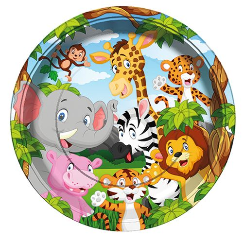 Safari Mutlu Hayvanlar Tabak (8 adet), fiyatı