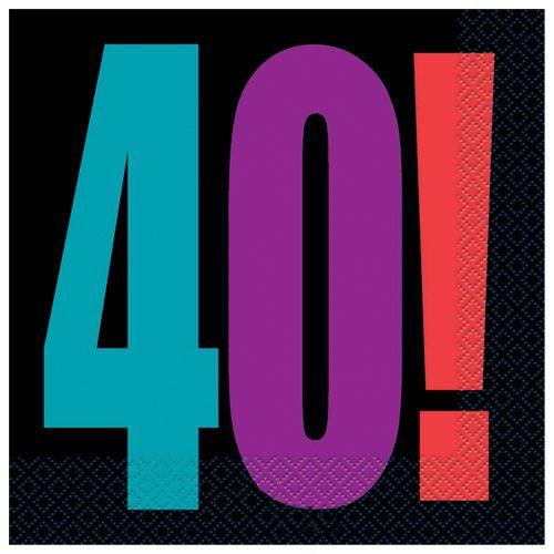Birthday Cheer 40 Yaş Peçete (16 adet), fiyatı