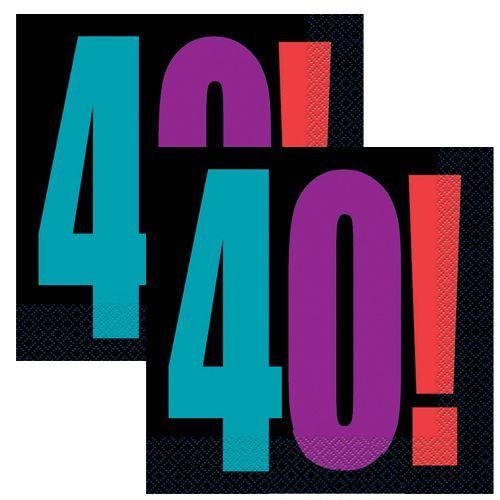 Birthday Cheer 40 Yaş Peçete (16 adet)