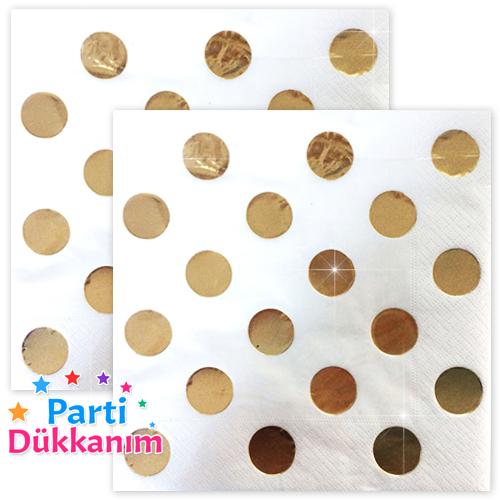 Beyaz Üzeri Varak Gold Peçete (16 adet), fiyatı