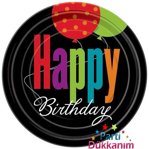 Birthday Cheer Karton Tabak (8 adet)