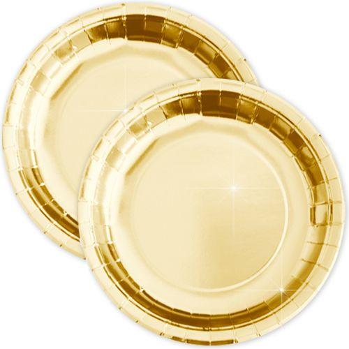 Altın Rengi Parlak Tabak (8 adet), fiyatı