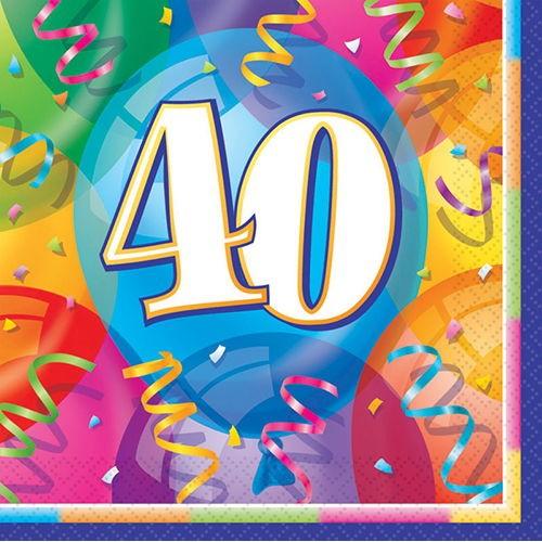 40 Yaş Peçete (16 adet)