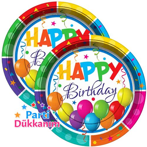 Happy Birthday Tabak (8 adet), fiyatı