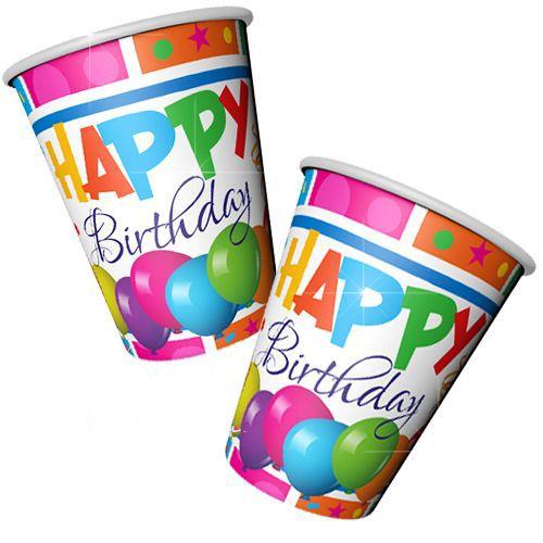Happy Birthday Bardak (8 adet)