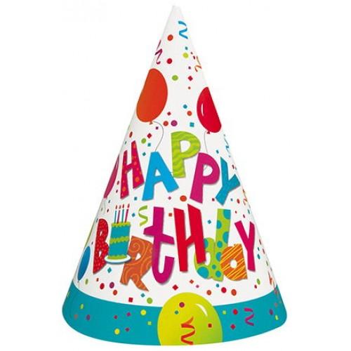 Happy Birthday Mini Şapka (6 adet)