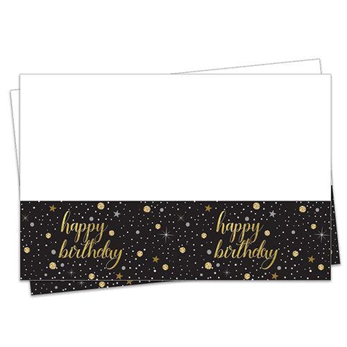 Işıltılı Doğum Günü Masa Örtüsü (120x180cm), fiyatı