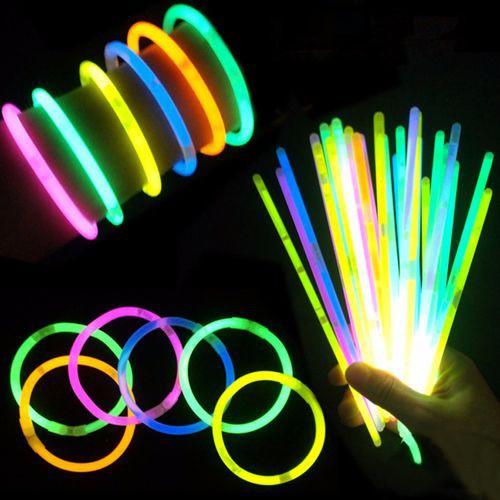 Işıklı ve Fosforlu Neon Bileklik 10 adet