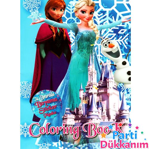 Frozen Boyama Kitabı Stickerlı (16 Sayfa), fiyatı
