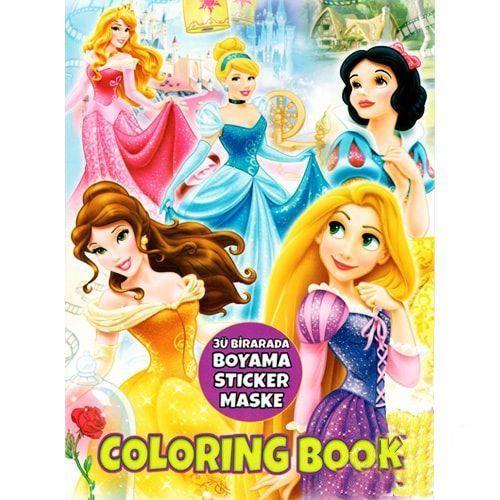 Prensesler Boyama Kitabı Stickerlı (16 Sayfa)