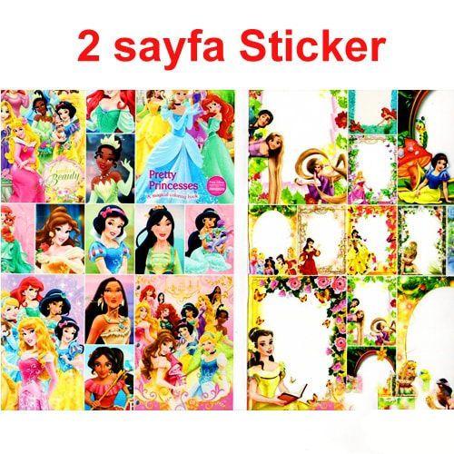 Prensesler Boyama Kitabi Stickerli 16 Sayfa