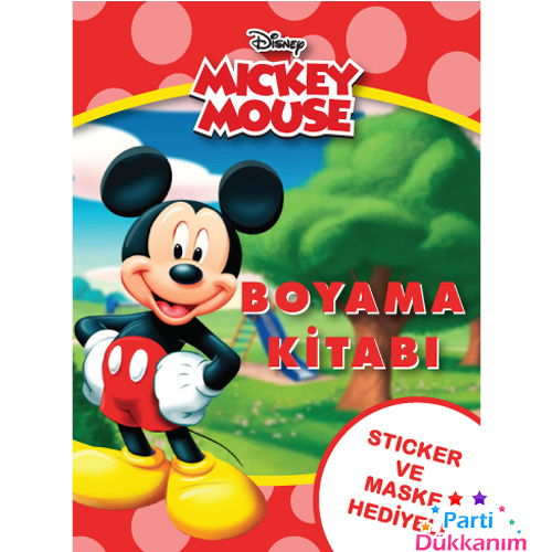 Mickey Mouse Boyama Kitabı Stickerlı 16 Sayfa Parti Dükkanım