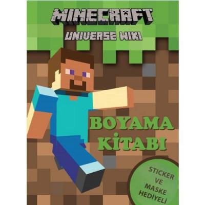 Minecraft Boyama Kitabi Stickerli 16 Sayfa