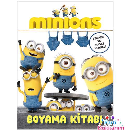 Minions Boyama Kitabi Stickerli 16 Sayfa