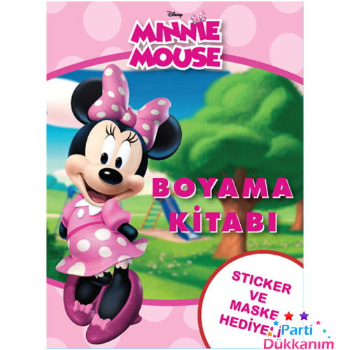 Minnie Mouse Boyama Kitabı Stickerlı 16 Sayfa