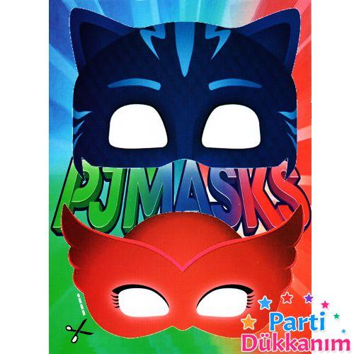 Pj Masks Boyama Kitabı Stickerlı 16 Sayfa Parti Dükkanım