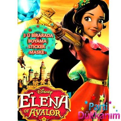 Prenses Elena Boyama Kitabi Stickerli 16 Sayfa
