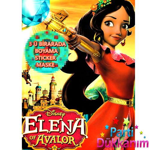 Prenses Elena Boyama Kitabı Stickerlı 16 Sayfa Parti Dükkanım