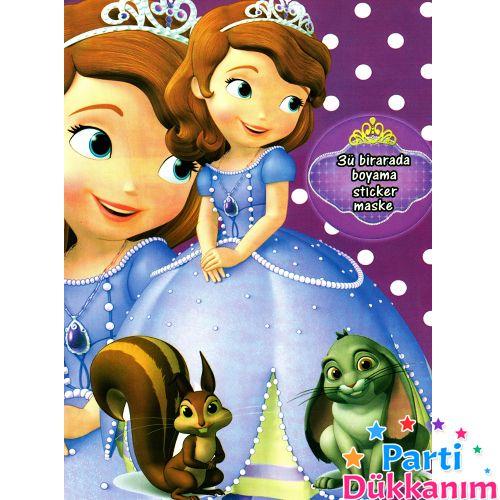 Prenses Sofia Boyama Kitabi Stickerli 16 Sayfa