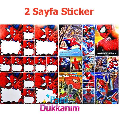 Spiderman Boyama Kitabi Stickerli 16 Sayfa Parti Dukkanim