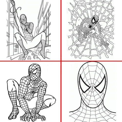 Spiderman Boyama Kitabı Stickerlı 16 Sayfa