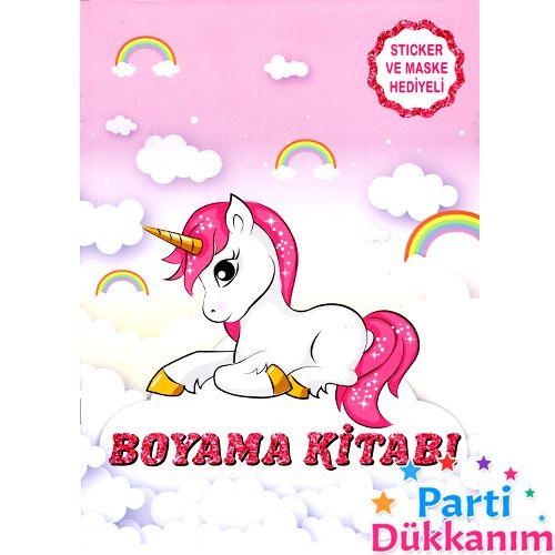 Unicorn Boyama Kitabı Stickerlı 16 Sayfa