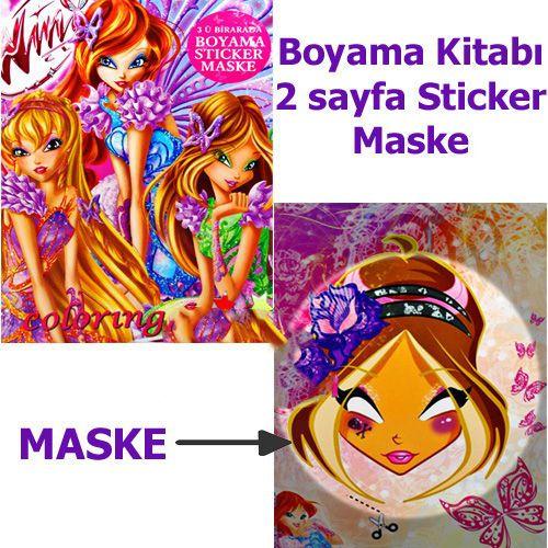 Winks Kızları Boyama Kitabı Stickerlı 16 Sayfa Parti Dükkanım