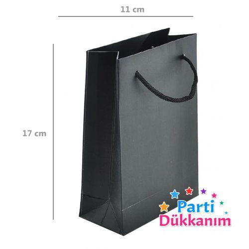 Siyah Karton Çanta (11*17 cm)