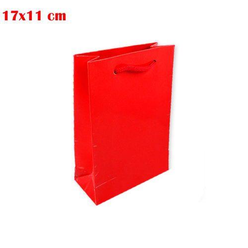 Kırmızı Karton Çanta (17x11 cm)