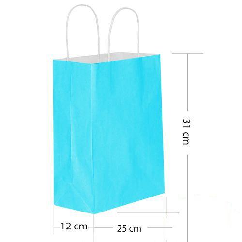 Mavi Kağıt Çanta Büyük Boy (31x25 cm), fiyatı
