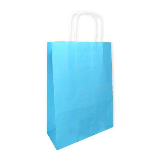 Mavi Kağıt Çanta (18x24 cm)