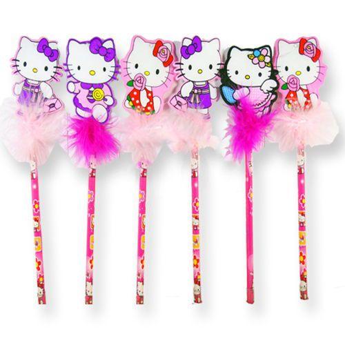 Hello Kitty Tüylü Hediyelik Kalem (6 adet)
