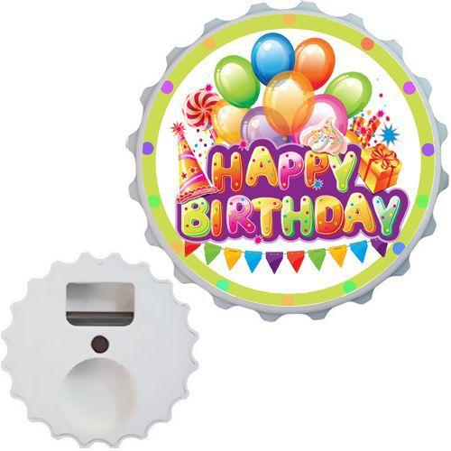 Happy Birthday Açacak Magnet 7cm, fiyatı