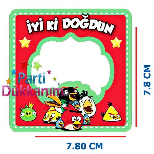 Angry Birds Fotoğraf Çerçevesi Magnetli (7,8x7,8cm), fiyatı