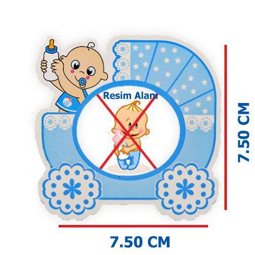 Baby Fotoğraf Çerçevesi Magnetli (7,5x7,5cm) Mavi, fiyatı
