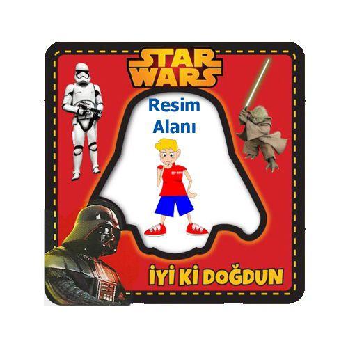Star Wars Fotoğraf Çerçevesi Magnetli (7,8x7,8cm)