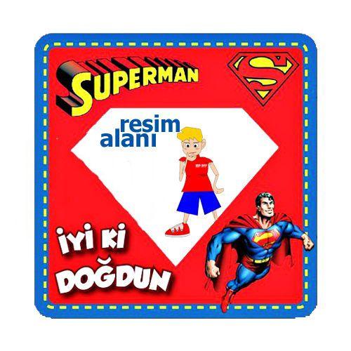 Superman Fotoğraf Çerçevesi Magnetli (7.8x7.8 cm)