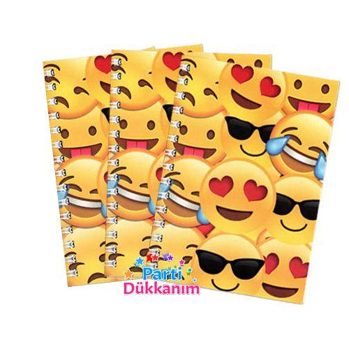 Emoji Not Defteri 4 Ad (9x13 cm) 50s
