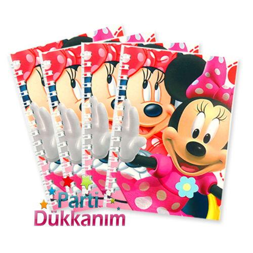 Minnie Mouse Not Defteri 4 Ad (9x13 cm) 50s, fiyatı