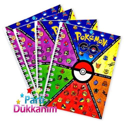 Pokemon Go Not Defteri 4 Ad (9x13 cm) 50s