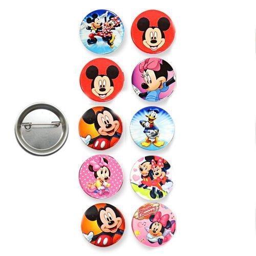 Mickey Minnie Mouse Parti Rozeti (10 adet)
