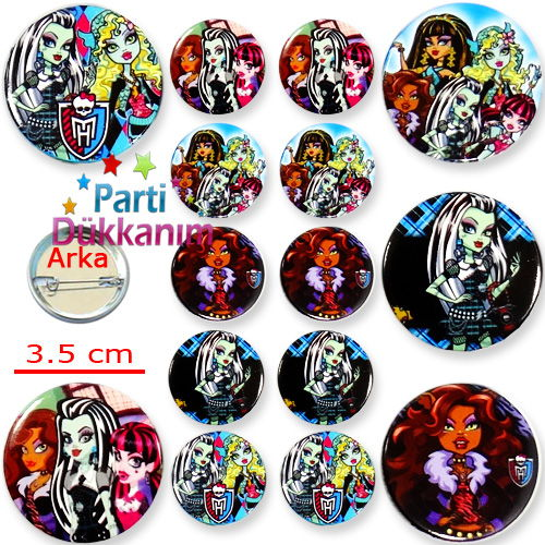 Monster High Parti Rozeti (10 adet), fiyatı