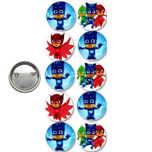 Pj Masks Parti Rozeti (10 adet)