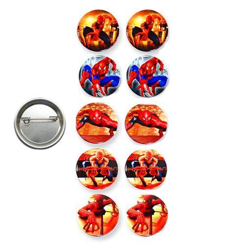 Spiderman Hediyelik Parti Rozeti (10 adet)