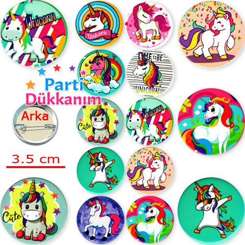 Unicorn Parti Rozeti (10 adet), fiyatı