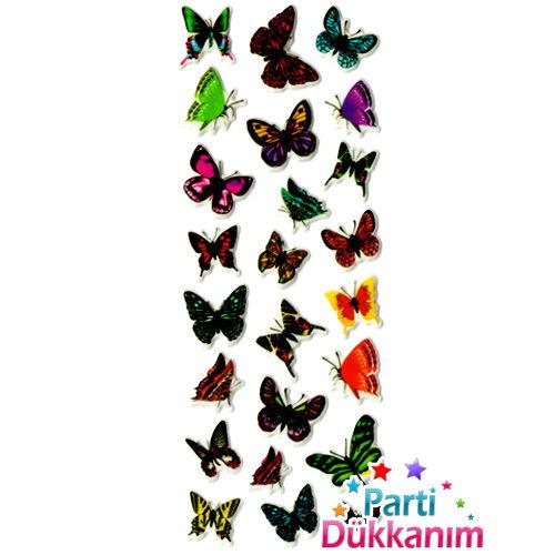 Renkli Kelebekler Sticker (7x17cm)